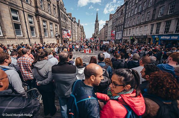 The Royal Mile during the Fringe