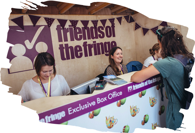 The Friends of the Fringe box office